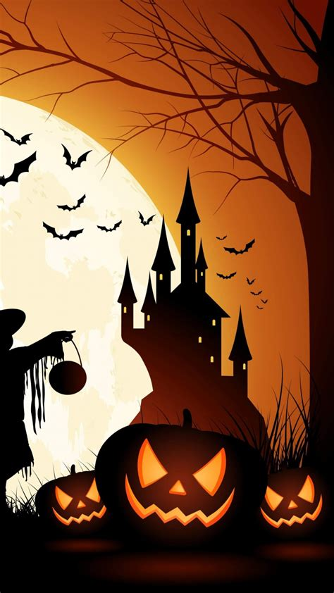 wallpaper holiday halloween  october pumpkin host