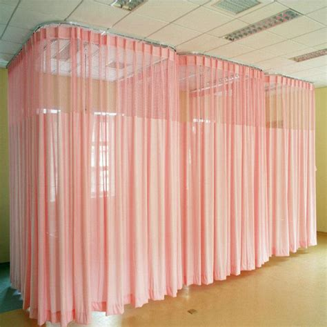 hospital fireproof solid color curtains room divider