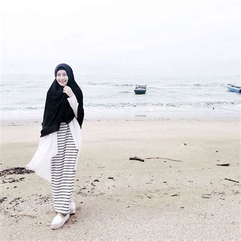 style busana   pantai biutifa tips sehat  cantik  muslimah