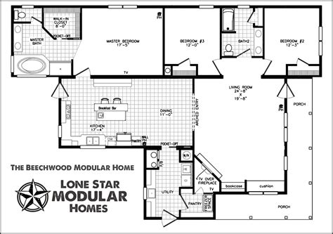 home floor plans the beechwood ranch style modular home floor plan