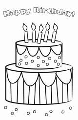 Birthday Printable Cards Coloring Card Pages Cake Lovetoknow Bathroom Printables Agile January Posted sketch template