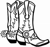 Cowboy Boot Boots Coloring Clip Western Saddle Printable Cowgirl Dance Square Clipart Visit sketch template