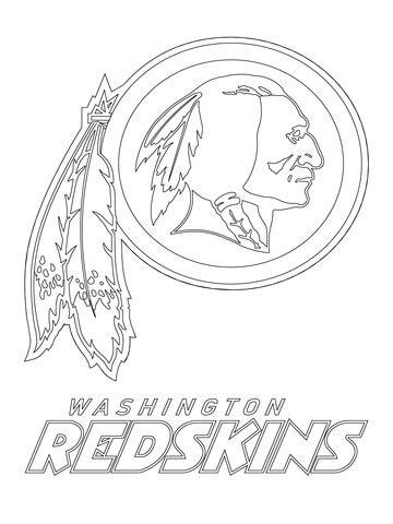 washington redskins logo coloring page  printable