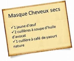Recette Masque Cheveux Secs : fabriquez votre masque cheveux secs maison 100 naturel ~ Nature-et-papiers.com Idées de Décoration