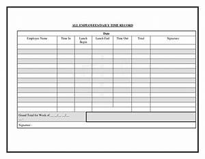 best photos of employee daily time sheet daily time log With time recording template
