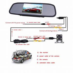 Backup Camera Rearview Mirror Camera For Car  Vehicle  Truck