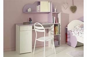 Bureau Chambre Fille : bureau de chambre fille blanc et lilas ~ Teatrodelosmanantiales.com Idées de Décoration