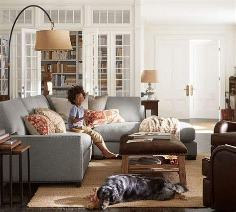 pottery barn arc l sectional sofa ls winslow arc sectional floor l