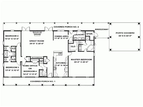 single story 4 bedroom house plans eplans ranch house plan single story southern beauty 2492 square feet and 4 bedrooms from