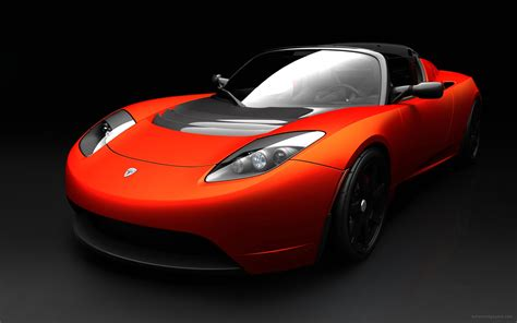 Tesla Roadster Sports Car Wallpaper