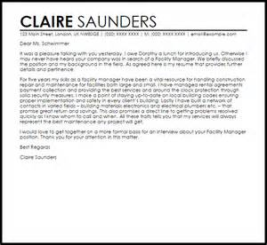 Best Resume Templates Facility Manager Cover Letter Sle Livecareer