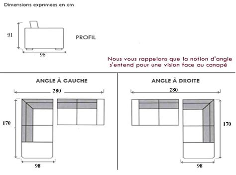 dimension canape angle dimension canape d angle meilleures images d 39 inspiration