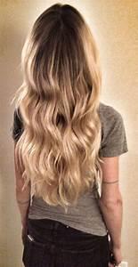 Ombré Hair Blond Foncé : blond wavy hair ombre balayage highlights beach hair beauty pinterest brown hair ~ Nature-et-papiers.com Idées de Décoration