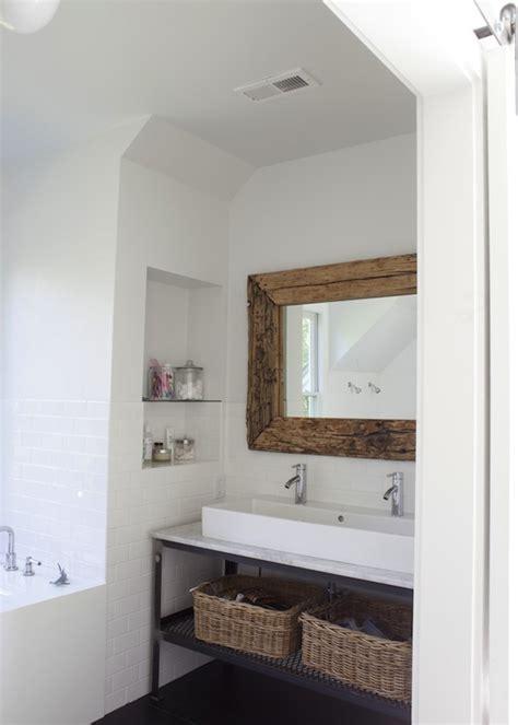 industrial double washstand modern bathroom heather