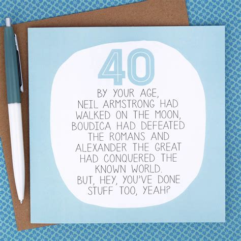 Celebrate the occasion with the right words from our collection. 40th Birthday Card Funny Birthday Card funny 40th birthday