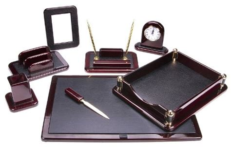 mens office desk accessories majestic goods office supply dark mahogany oak with black