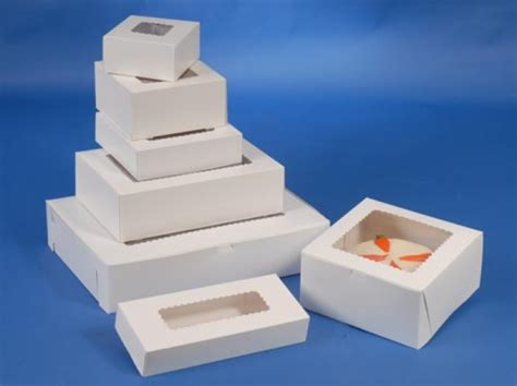 """Bakery Boxes With Window 8"""" Length X 5 34"""" Width X 2 12"""