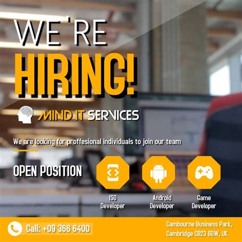 hiring posters template postermywall