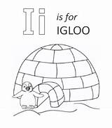 Igloo Coloring Eskimo Template Penguin Ice sketch template