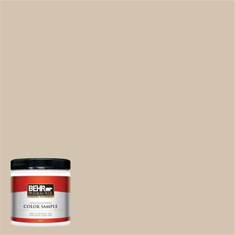behr premium plus 8 oz ecc 54 1 new khaki flat interior