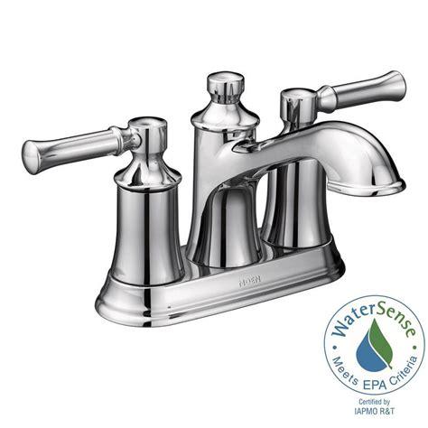 Moen Banbury Bathroom Faucet Chrome by Moen Banbury 4 In Centerset 2 Handle Low Arc Bathroom