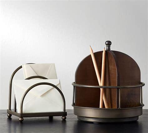 pottery barn desk accessories printer 39 s home office desk accessories pottery barn