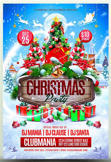 christmas  year party psd flyer templates