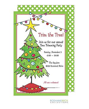 kids  family christmas party invitations