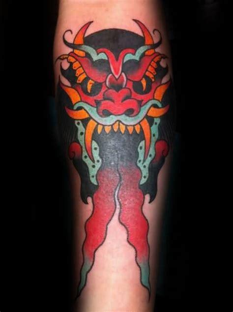 traditional devil tattoo designs  men  school ideas