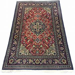 fantastique tapis persan en laine et soie ghom 110x175 With tapis persan avec canapé convertible 175 cm