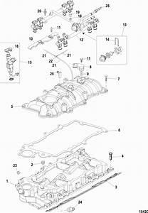 Mercruiser 350 Mag Mpi Mie Intake Manifold  U0026 Fuel Rail Parts