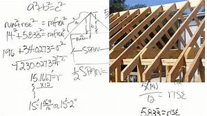 How To Calculate The Length Of Roof Rafters Captioned