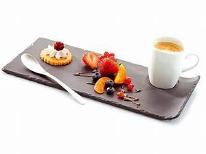Assiette à Dessert Originale : caf gourmand en ardoise porcelaine 29 x 13 4 cm x 6 ~ Teatrodelosmanantiales.com Idées de Décoration