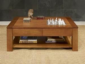 Table De Salon Bois : table basse jean en ch ne massif ligne contemporaine longueur 130 meuble en ch ne massif ~ Teatrodelosmanantiales.com Idées de Décoration