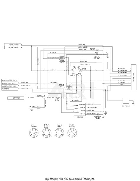 mtd 13ax935t004 2014 parts diagram for electrical schematic