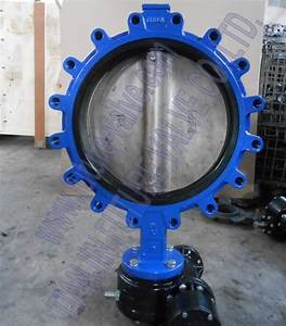 China Ansi 150 18 Inch Lug Type Butterfly Valve With Di