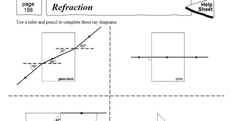 reflection refraction diffraction worksheet worksheets for