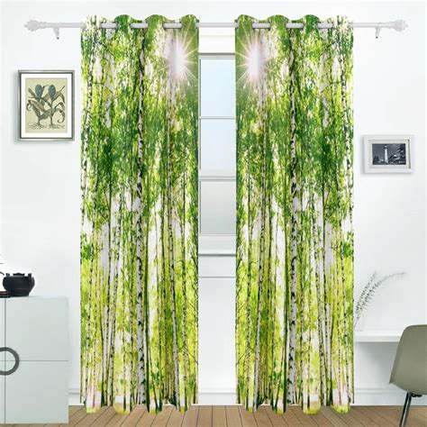 blackout curtains for sliding glass doors birch tree curtains drapes panels darkening blackout