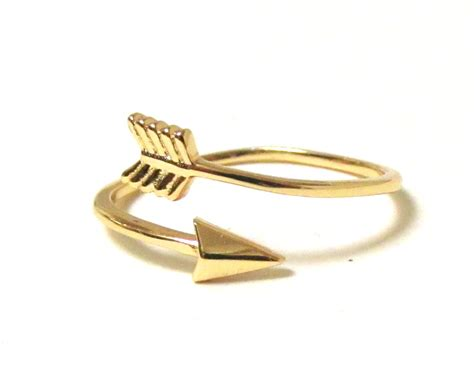 Tdr Ring 14 by Arrow Ring 14 Kt Gold Sterling Silver Arrow Ring In
