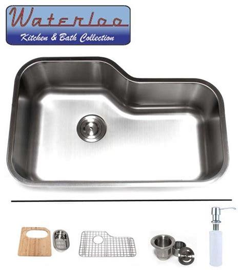 undermount offset single bowl sink 30 quot waterloo premium stainless steel undermount offset