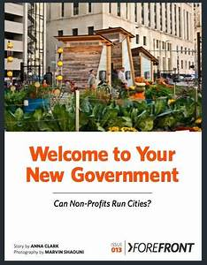 Welcome to Your New Government: Can Non-Profits Run Cities ...