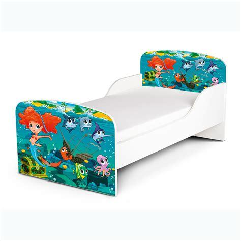 Mermaid Toddler Bed Foam Mattress Girls Kids Junior