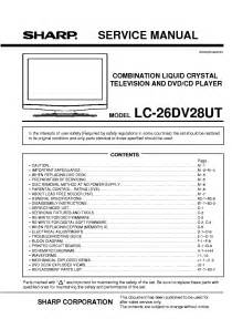 Sharp 20bsc Service Manual Free Download  Schematics