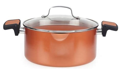 copper pasta pot  locking handles  straining lidbeaodis express