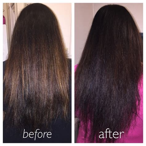 Before And After With Using Lush Henna Hair Dye Caca Noir