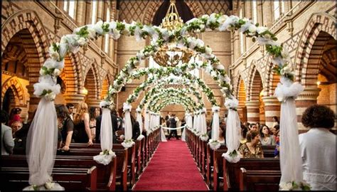 church wedding decor ideas bollywoodshaadiscom