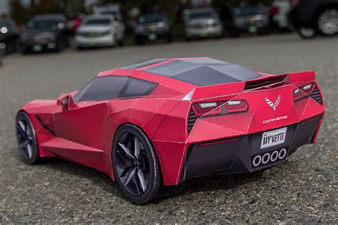 corvette stingray  papercraft  les voitures