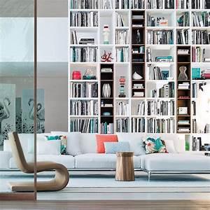 bibliotheque murale integree salon inspirations With decoration bibliotheque murale salon