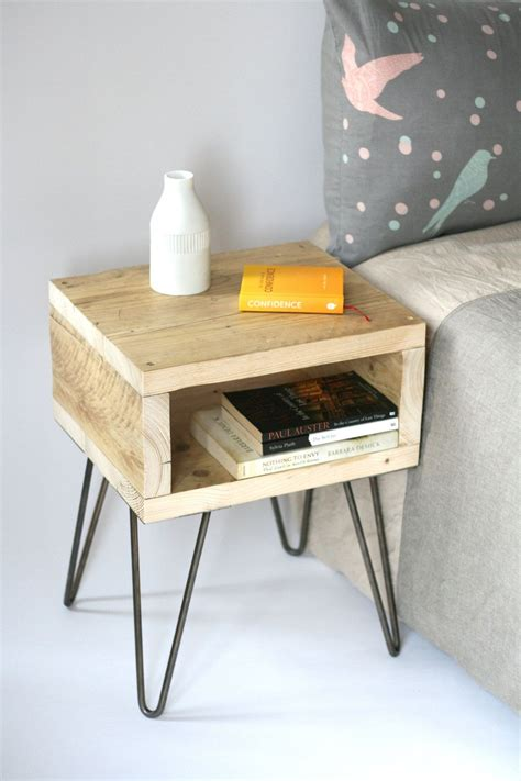 blondie bedside tablereclaimed wood side table