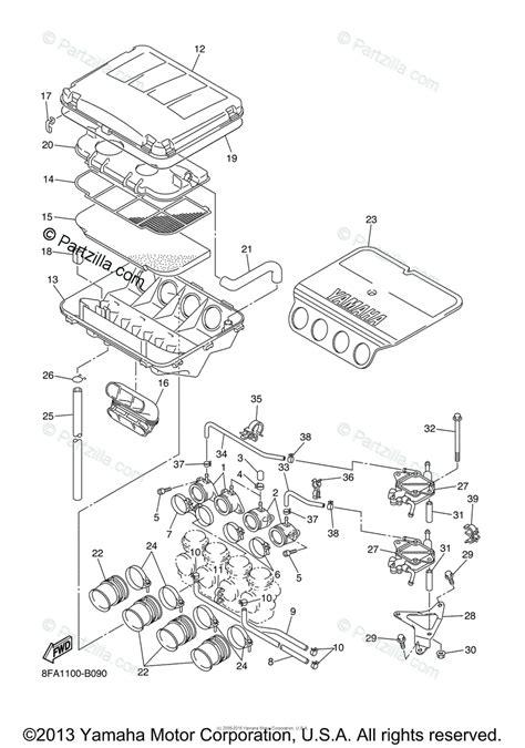yamaha snowmobile 2003 oem parts diagram for intake partzilla com